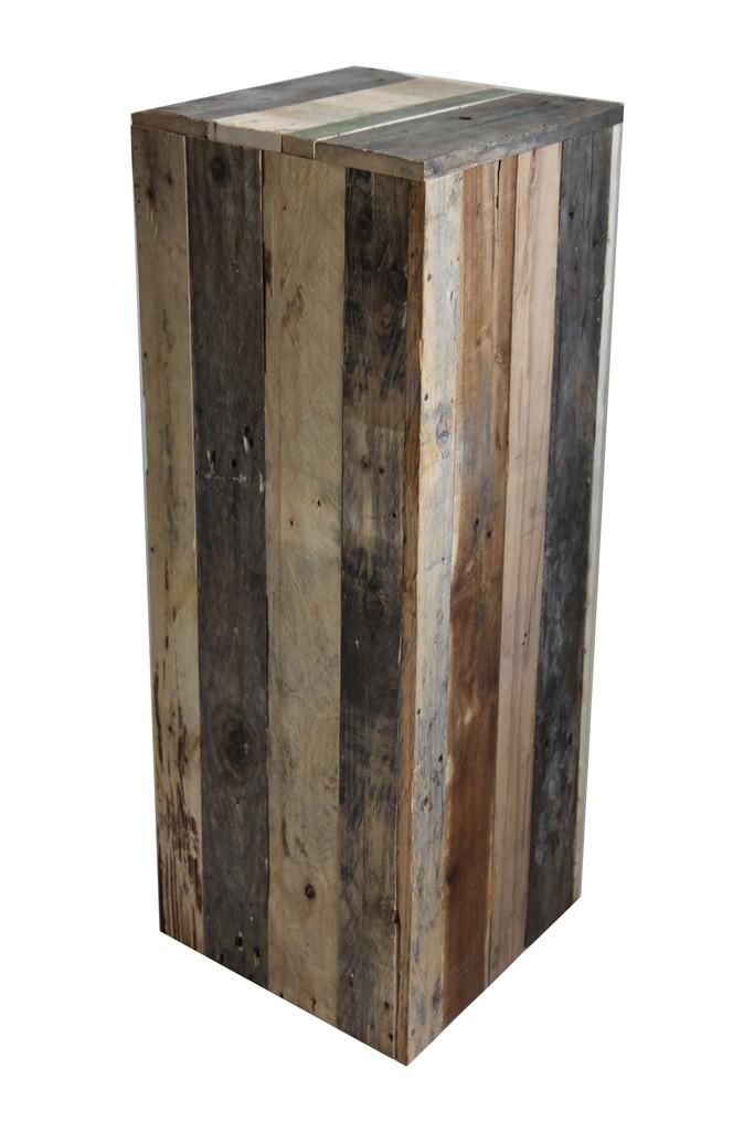 Pidestall av resirkulert tre